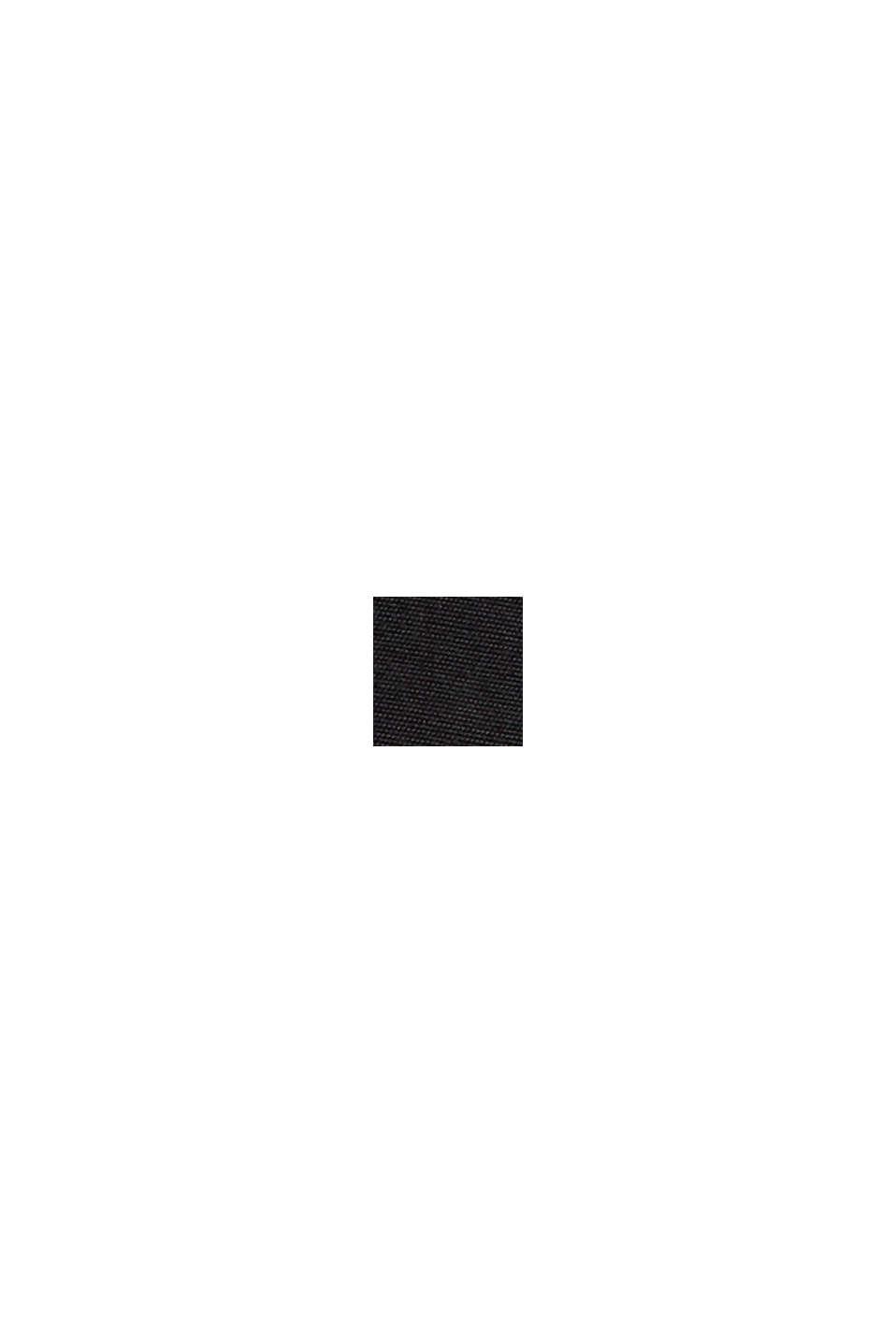 Bluzka henley z połyskiem z wiskozą LENZING™ ECOVERO™, BLACK, swatch