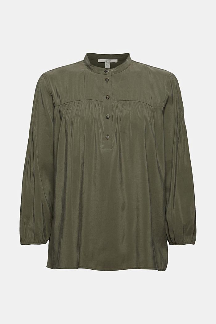Bluzka henley z połyskiem z wiskozą LENZING™ ECOVERO™