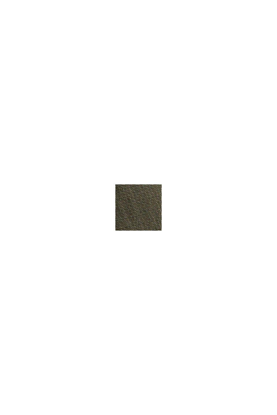 Bluzka henley z połyskiem z wiskozą LENZING™ ECOVERO™, DARK KHAKI, swatch