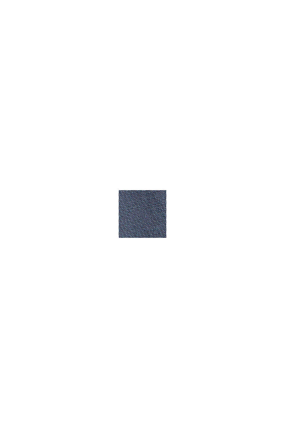 Bluzka henley z połyskiem z wiskozą LENZING™ ECOVERO™, GREY BLUE, swatch