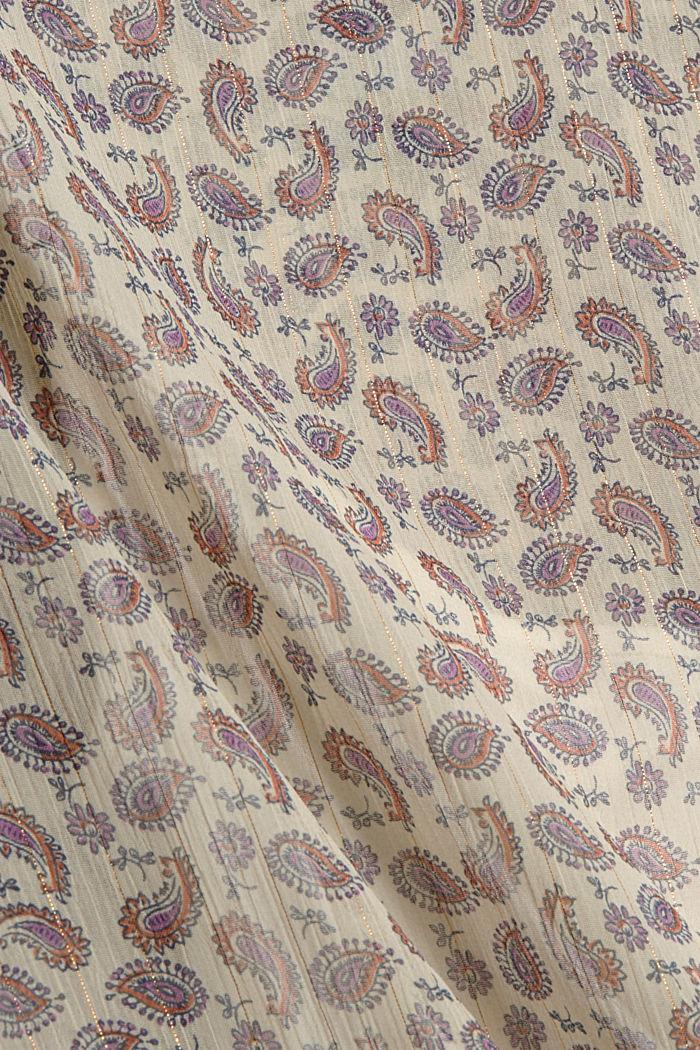Chiffonbluse mit Paisleyprint und Unterziehtop, OFF WHITE, detail image number 4