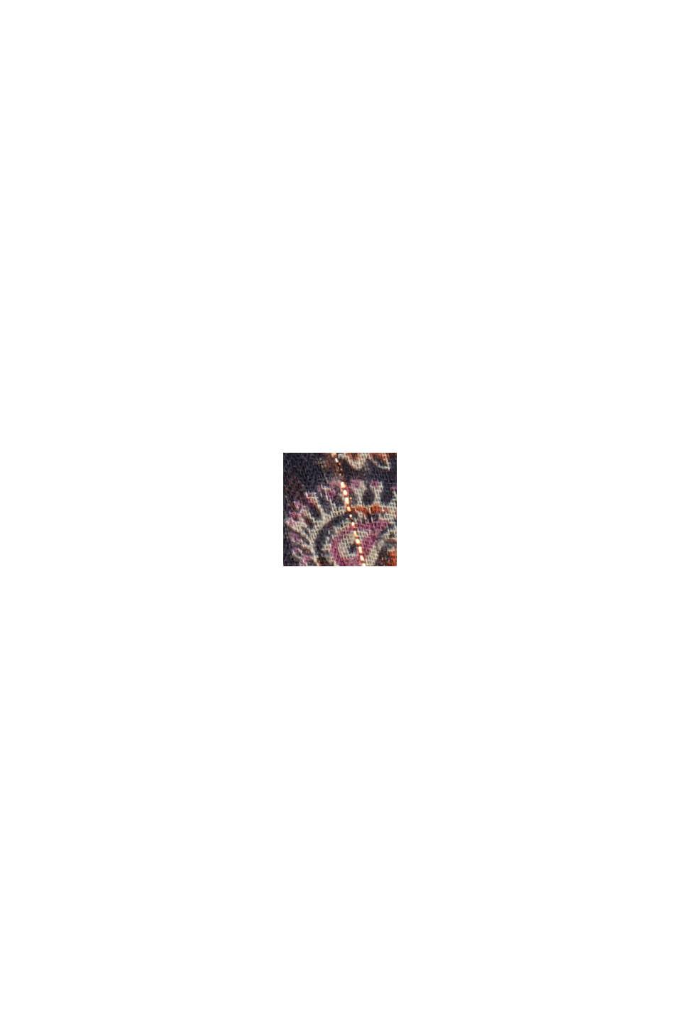 Chiffon blouse met paisleyprint en top, NAVY, swatch