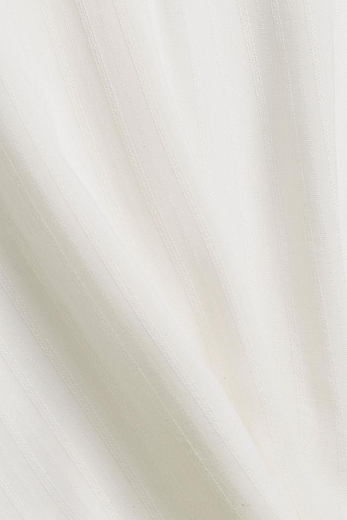 Bluse mit Struktur-Streifen, LENZING™ ECOVERO™, OFF WHITE, detail image number 4