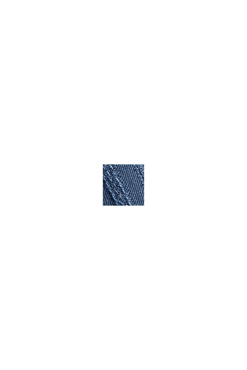 Bluse mit Struktur-Streifen, LENZING™ ECOVERO™, GREY BLUE, swatch