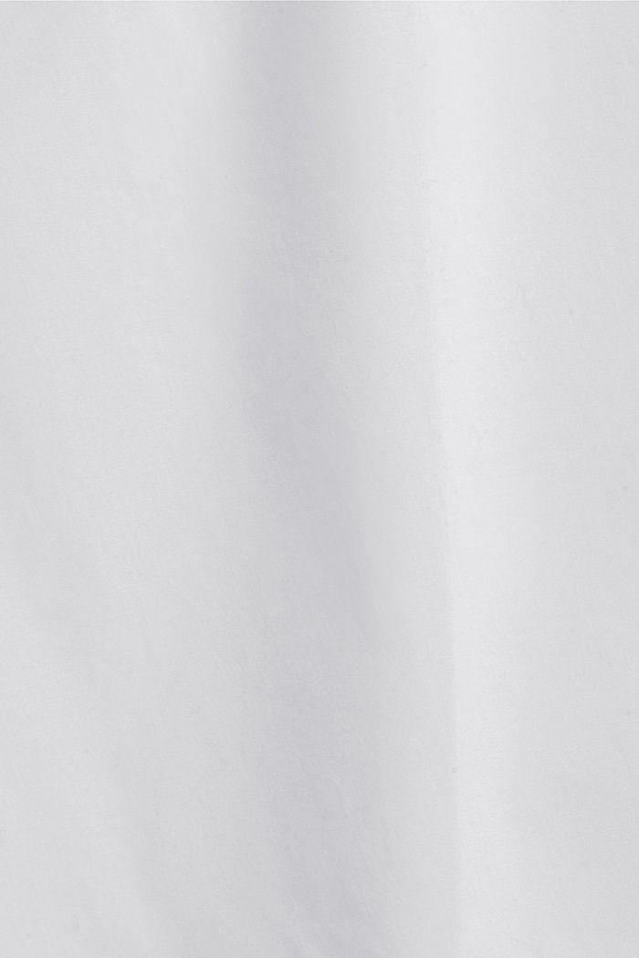 Long-Bluse mit gerüschtem Kragen, Baumwolle, WHITE, detail image number 4