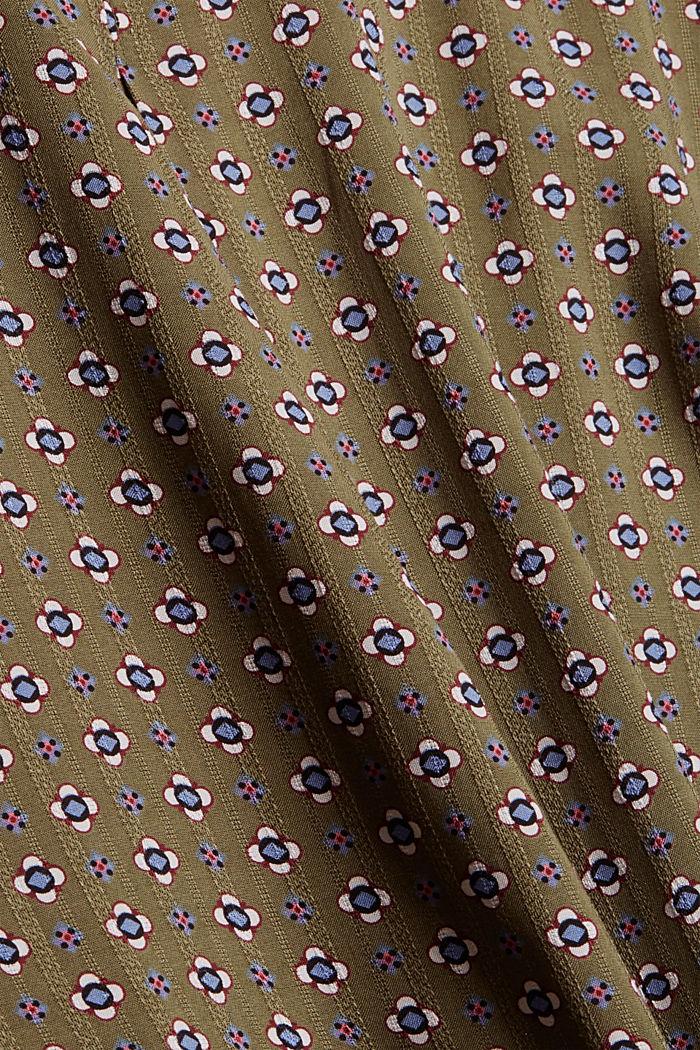 Bluse mit Blumen-Print aus LENZING™ ECOVERO™, DARK KHAKI, detail image number 4