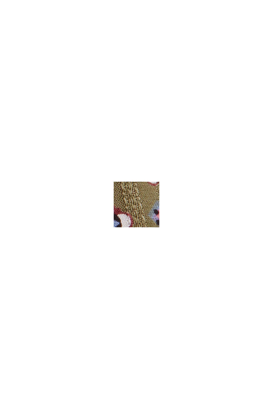 Blouse met bloemenprint van LENZING™ ECOVERO™, DARK KHAKI, swatch