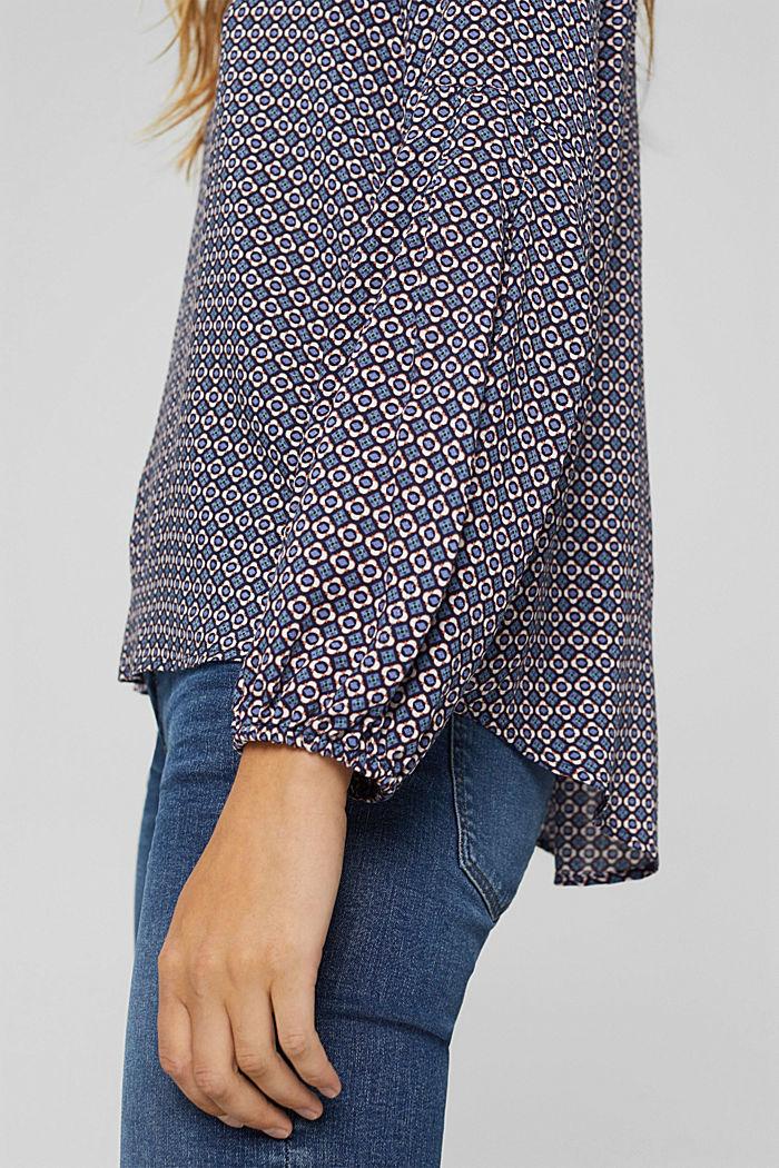 Bluse mit Blumen-Print aus LENZING™ ECOVERO™, NAVY, detail image number 2