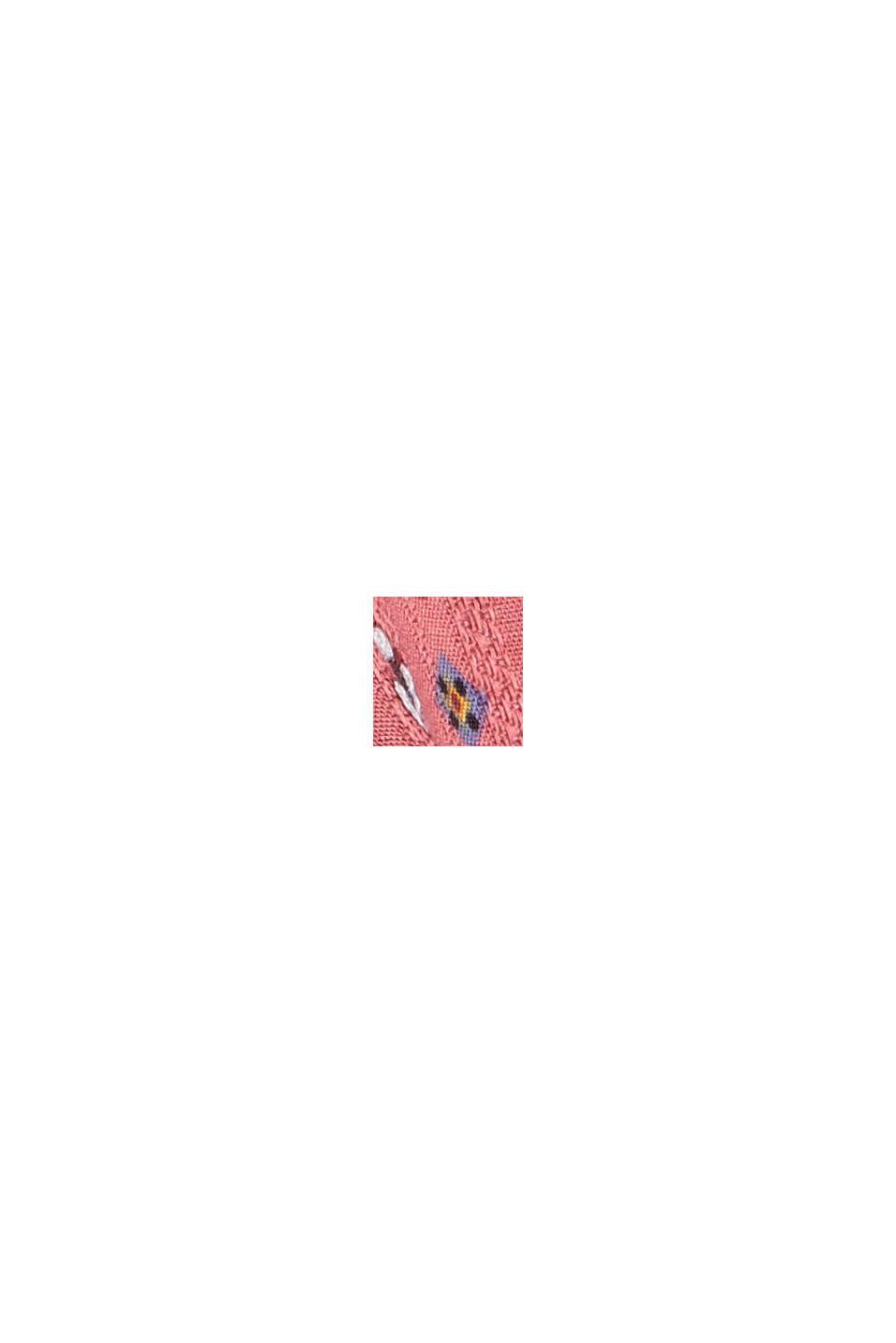 Blouse met bloemenprint van LENZING™ ECOVERO™, BLUSH, swatch