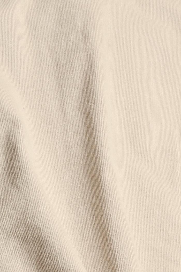 Feincord-Hemdbluse aus Baumwoll-Stretch, SAND, detail image number 4