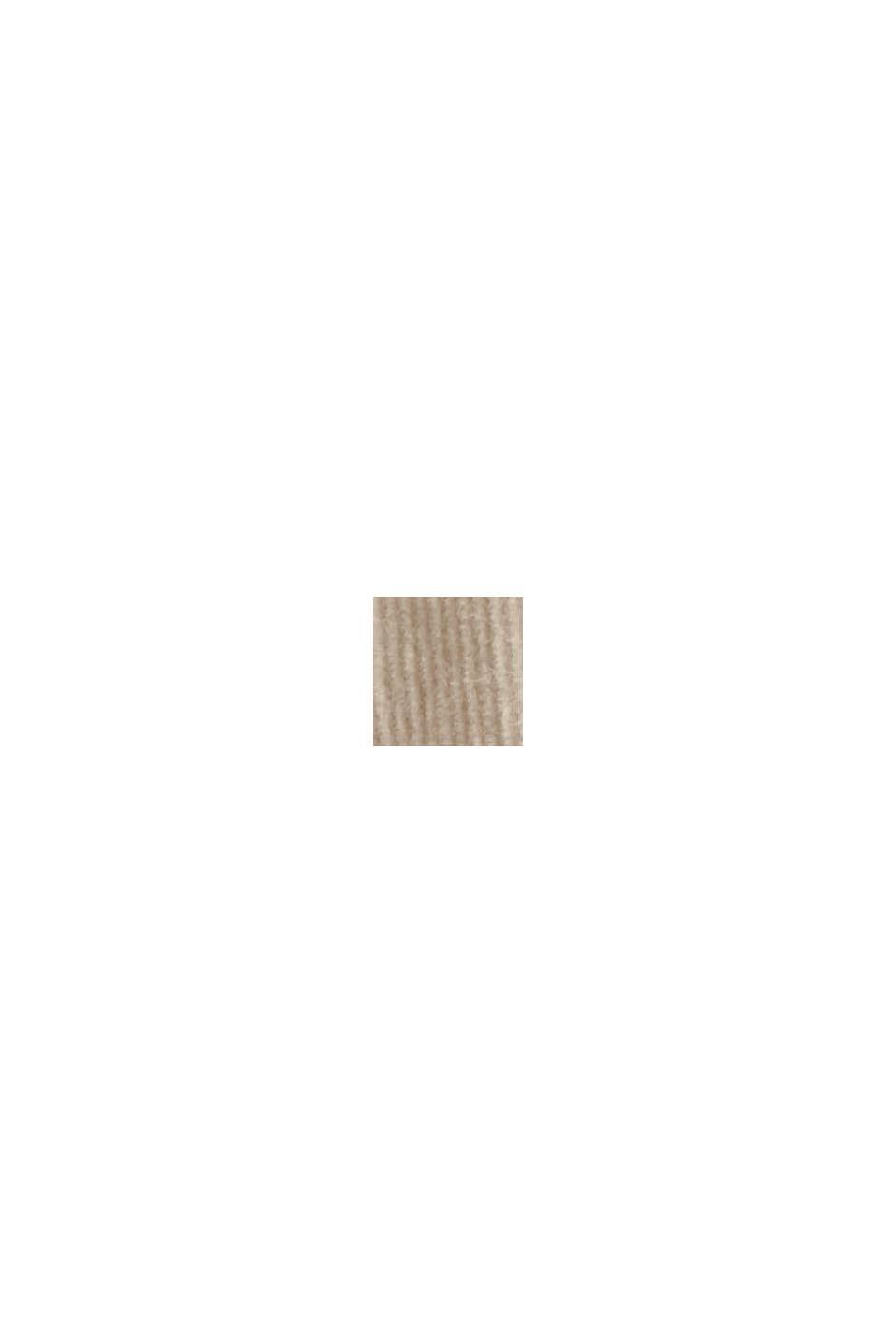 Feincord-Hemdbluse aus Baumwoll-Stretch, SAND, swatch