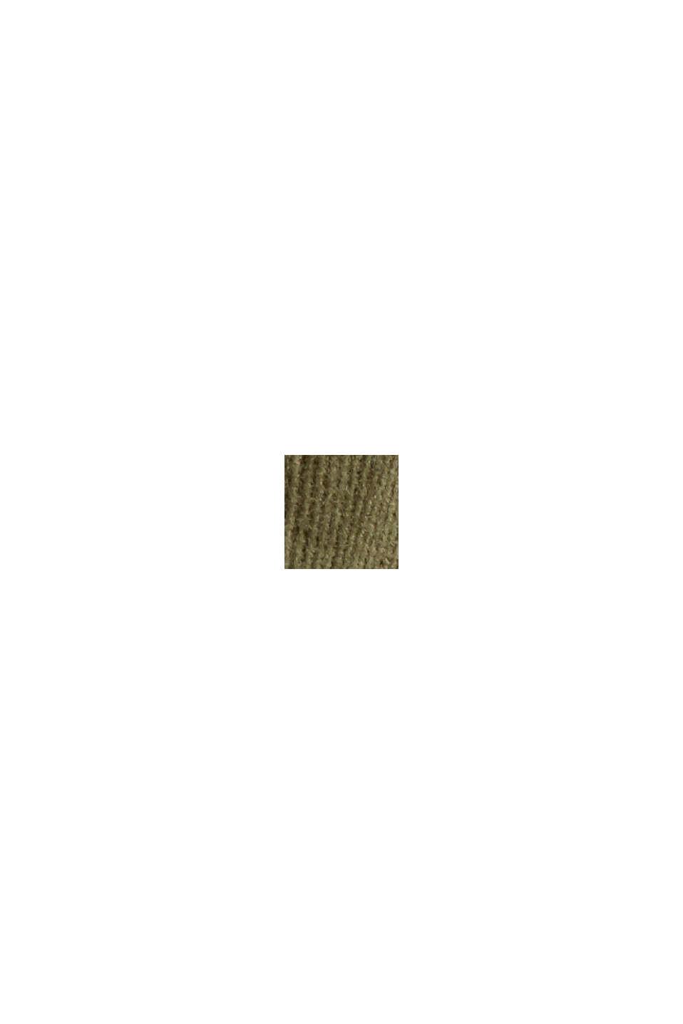 Feincord-Hemdbluse aus Baumwoll-Stretch, DARK KHAKI, swatch