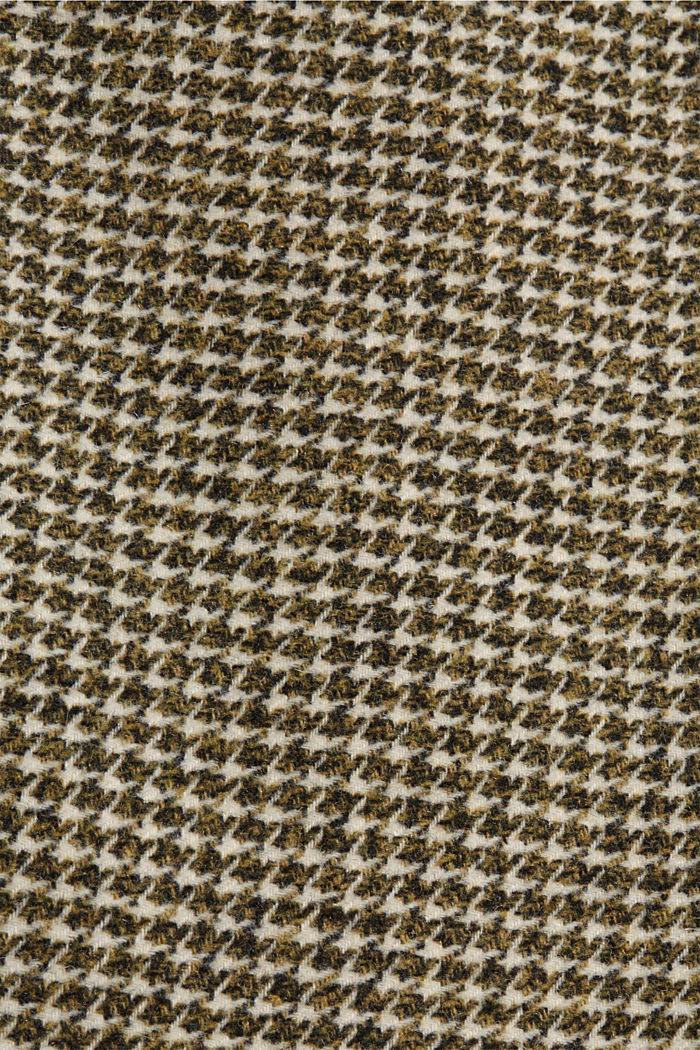 Wool blend: Blazer with houndstooth pattern, DARK KHAKI, detail image number 4