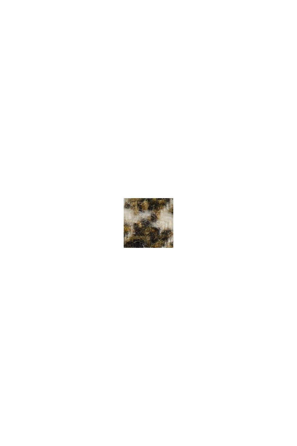 À teneur en laine: le blazer à motif pied-de-poule, DARK KHAKI, swatch
