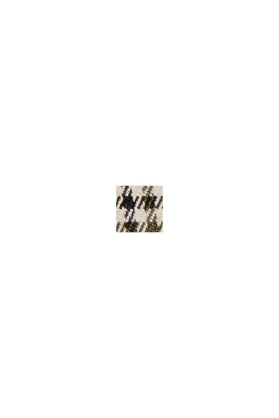 Kavaj med hundtandsrutigt mönster, DARK KHAKI, swatch