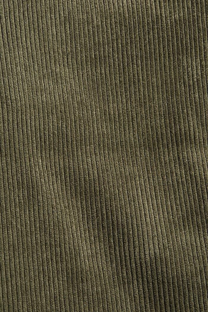 En matière recyclée: la veste en velours côtelé à cordon de serrage, DARK KHAKI, detail image number 4