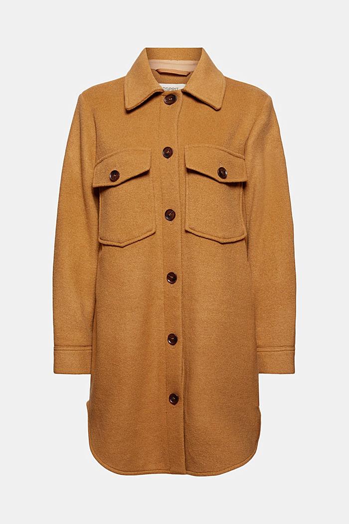Skjortjacka av ullmix