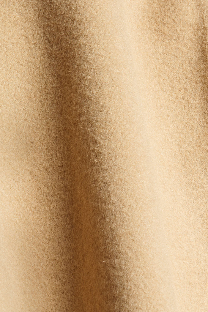 Overhemdjack van een wolmix, SAND, detail image number 4