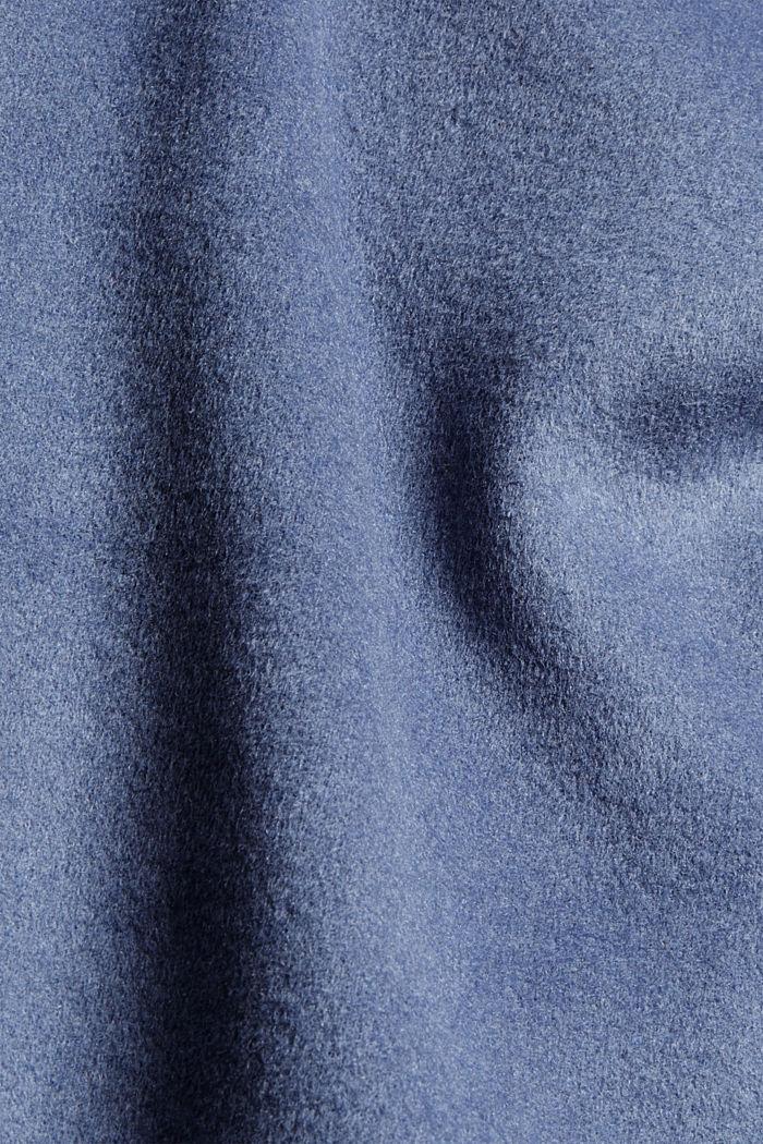 Hemdjacke aus Woll-Mix, GREY BLUE, detail image number 4