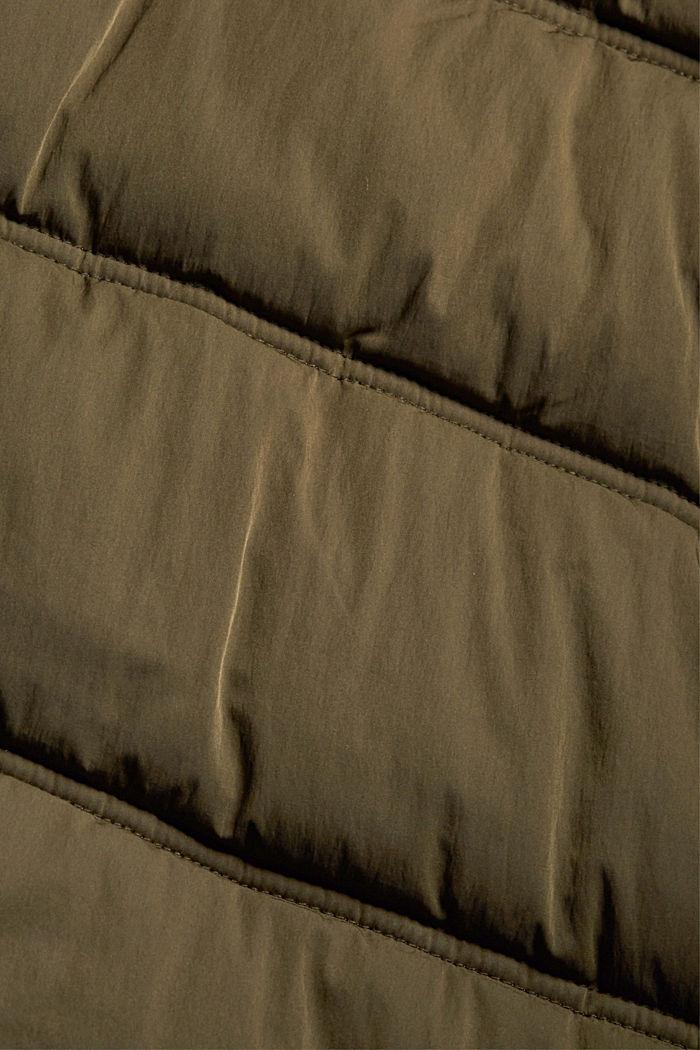 Recycelt: Steppmantel mit 3M™ Thinsulate™, DARK KHAKI, detail image number 4