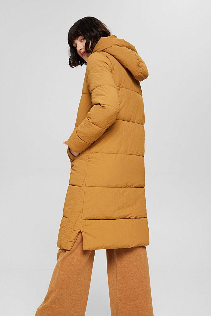 Gerecycled: gewatteerde mantel met structuur, CAMEL, detail image number 3