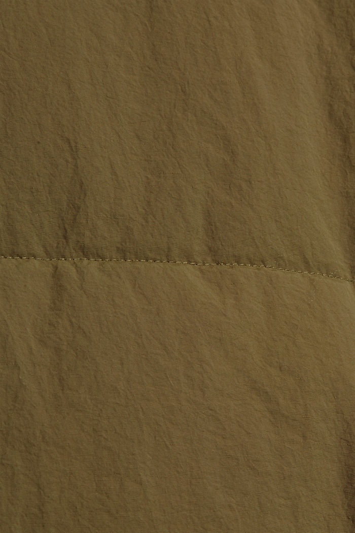 Recycelt: Steppmantel mit Struktur, DARK KHAKI, detail image number 4