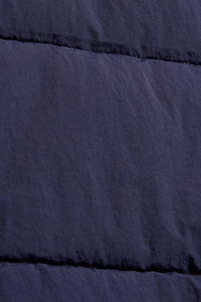 Recycelt: Steppmantel mit Struktur, NAVY, detail image number 4