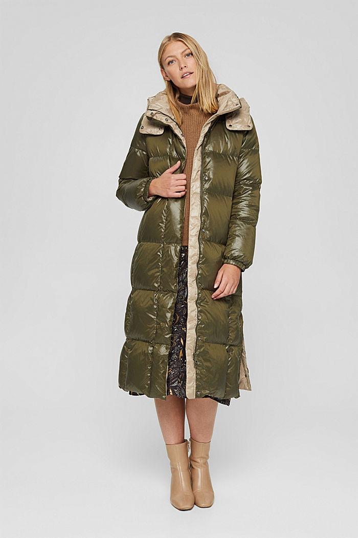 Manteau matelassé brillant, avec duvet recyclé