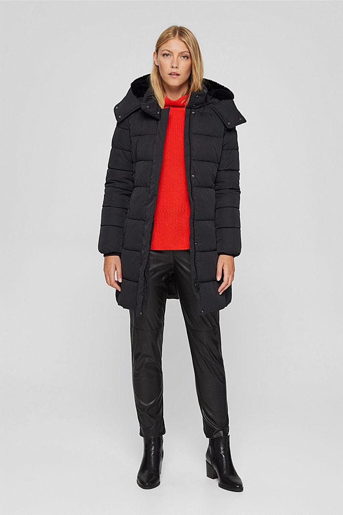 Manteau matelassé Thinsulate™ à capuche amovible, BLACK, detail image number 1