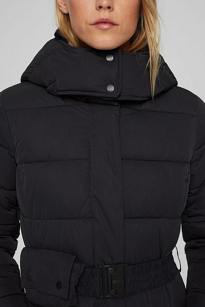 Manteau matelassé Thinsulate™ à capuche amovible, BLACK, detail image number 2