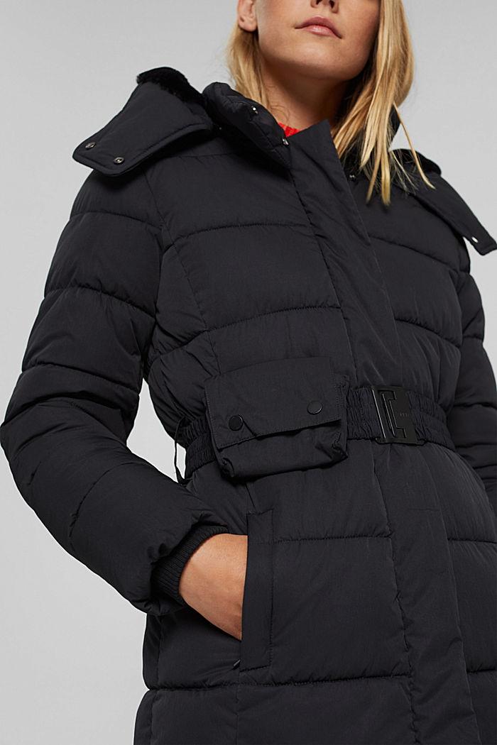 Manteau matelassé Thinsulate™ à capuche amovible, BLACK, detail image number 5