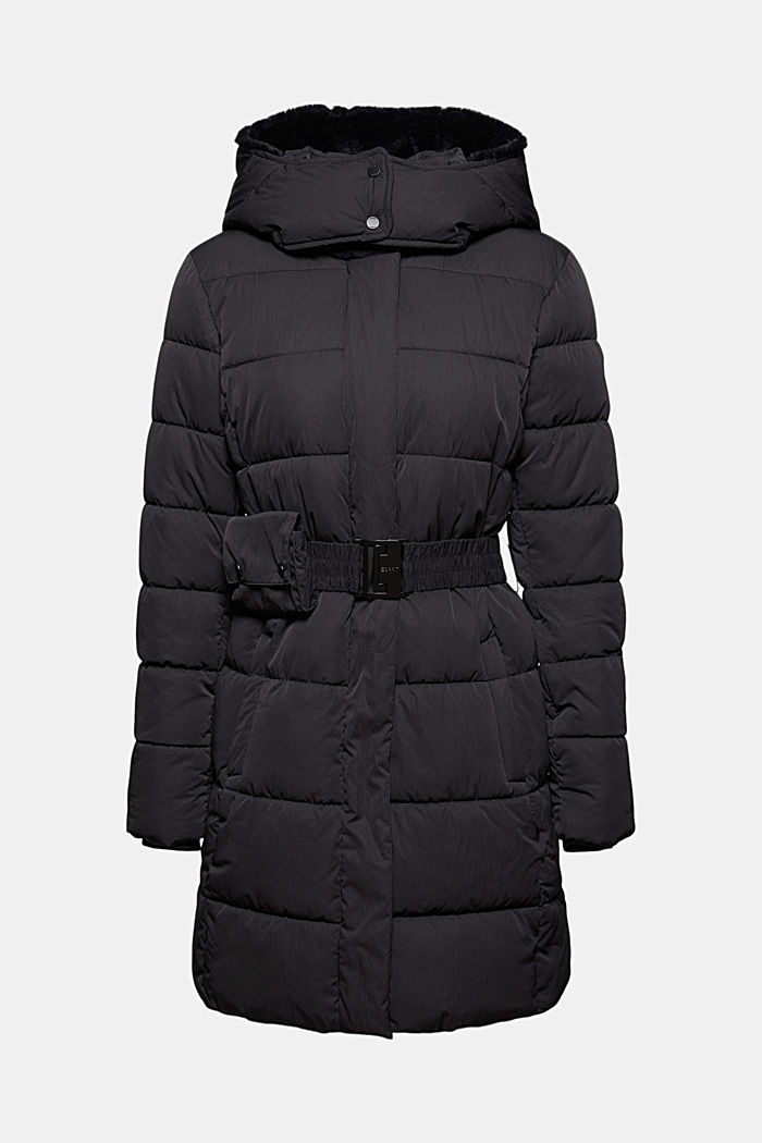 Thinsulate™ quilted coat with detachable hood