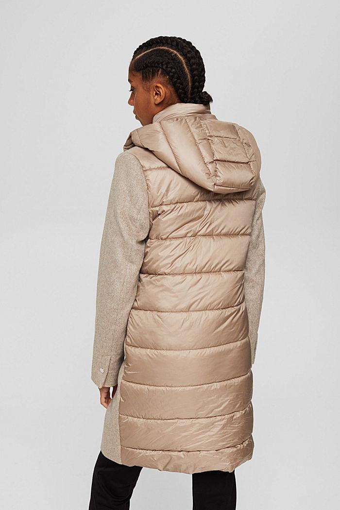 Mantel van een materiaalmix met 3M™ Thinsulate, LIGHT TAUPE, detail image number 3