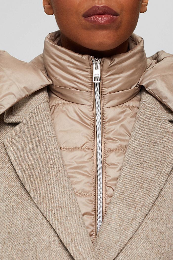 Mantel van een materiaalmix met 3M™ Thinsulate, LIGHT TAUPE, detail image number 2