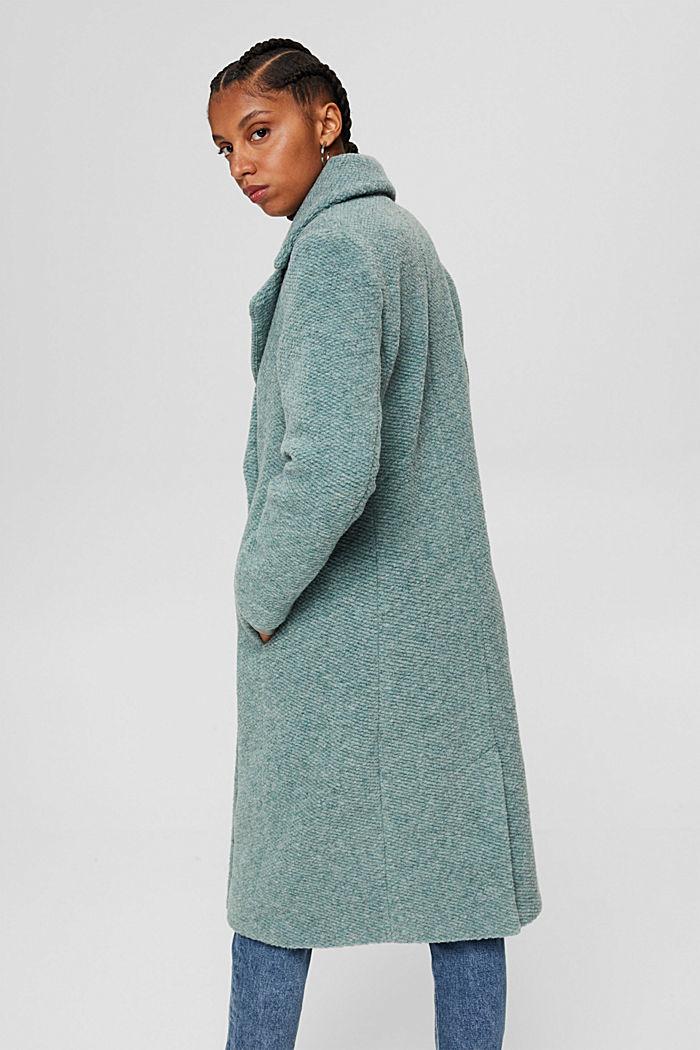 Met wol: mantel met brede reverskraag, DUSTY GREEN, detail image number 3
