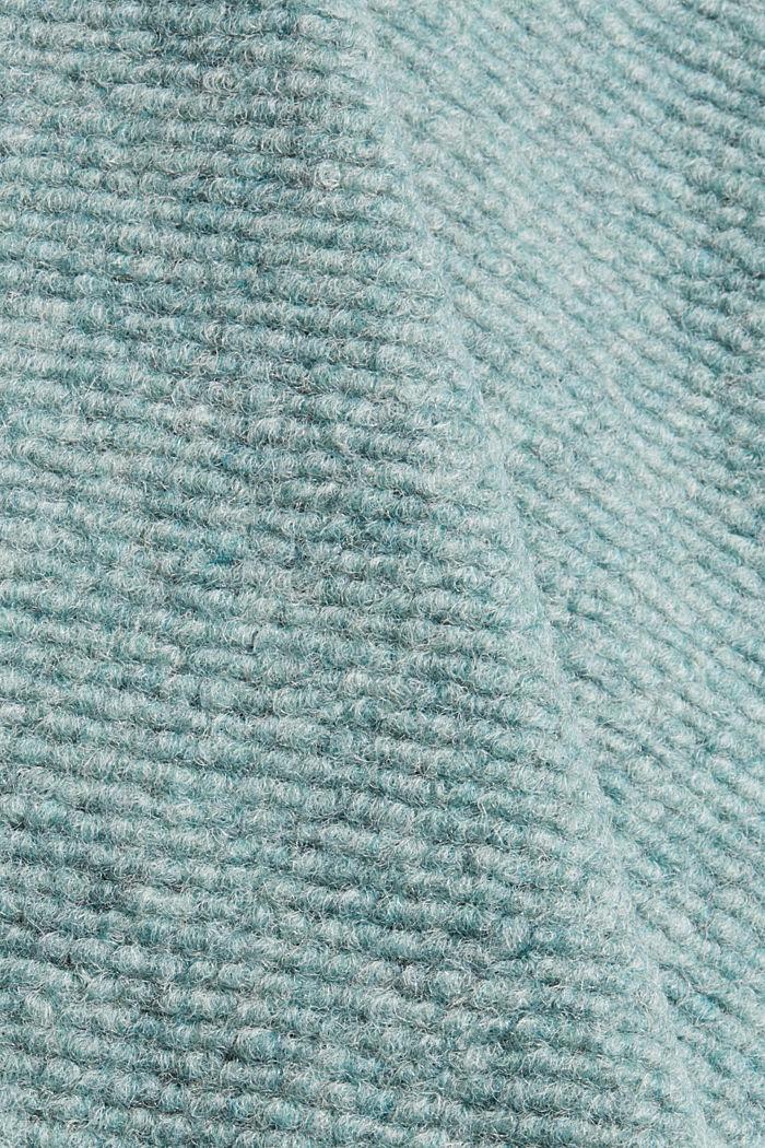 Met wol: mantel met brede reverskraag, DUSTY GREEN, detail image number 4
