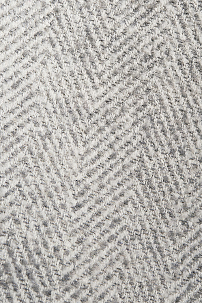 Mit recycelter Wolle: Herringbone-Mantel, LIGHT GREY, detail image number 4