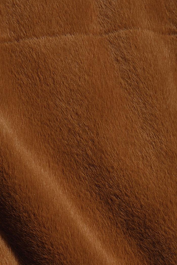 Jacke aus weichem Webfell mit Stehkragen, TOFFEE, detail image number 4