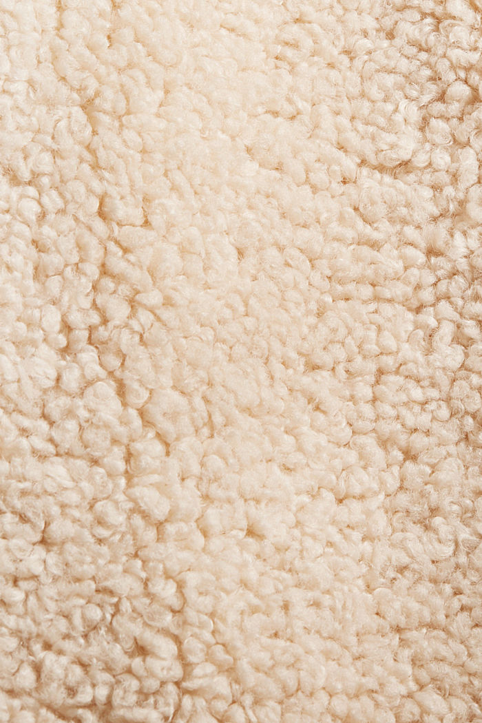 Mantel van teddy met capuchon, ICE, detail image number 4