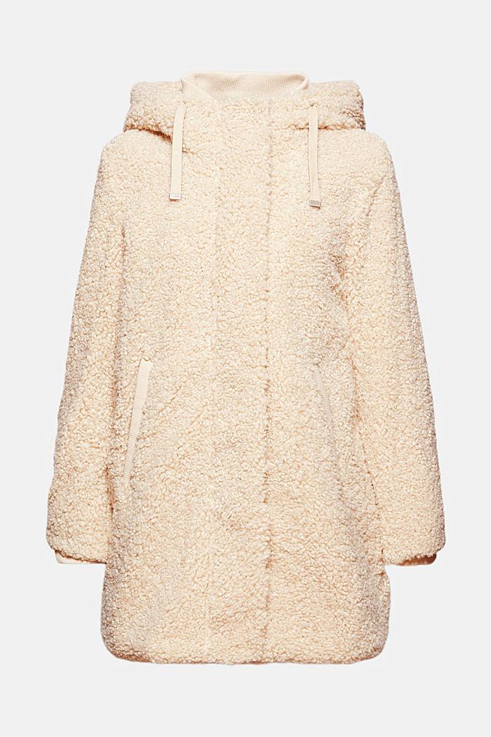 Mantel van teddy met capuchon, ICE, detail image number 6