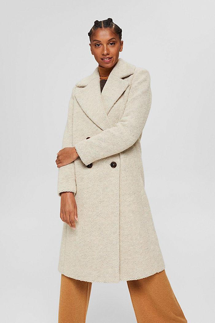 Met wol: mantel met brede reverskraag, ICE, detail image number 0