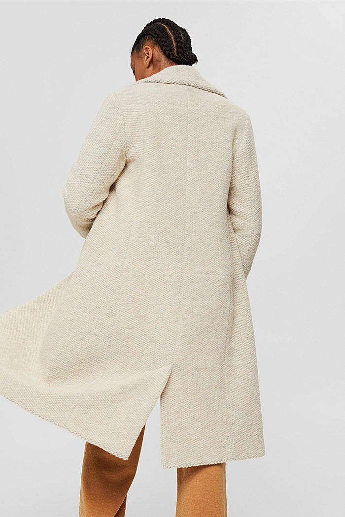 Met wol: mantel met brede reverskraag, ICE, detail image number 3