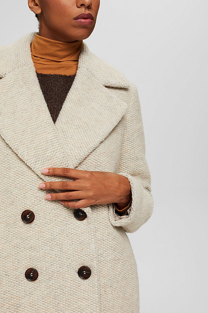 Met wol: mantel met brede reverskraag, ICE, detail image number 2