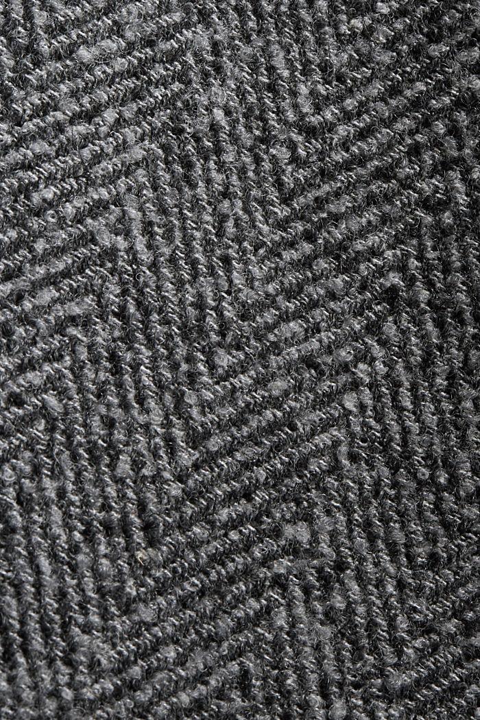 À teneur en laine recyclée: le manteau à chevrons à capuche, ANTHRACITE, detail image number 4