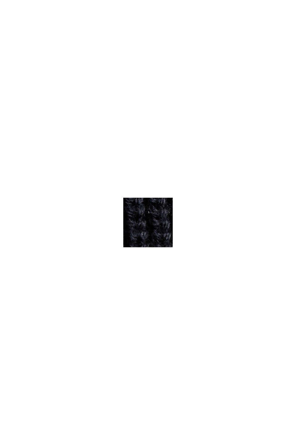 Organic Cotton/Kaschmir: Rollkragen-Pullover, BLACK, swatch