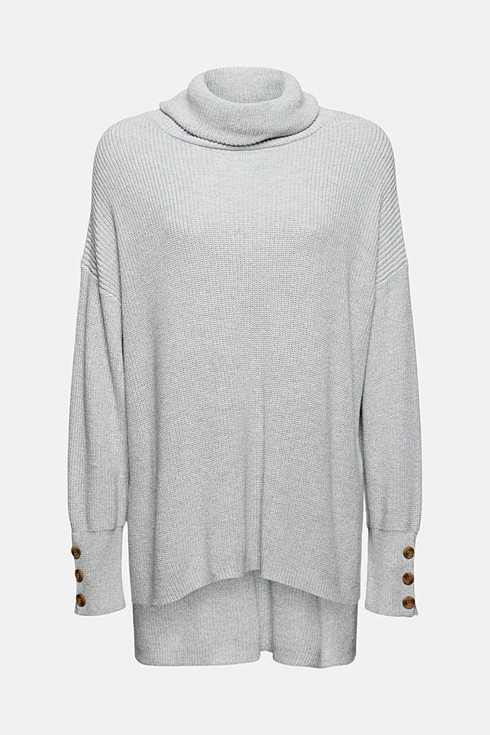 Organic Cotton/Kaschmir: Rollkragen-Pullover, LIGHT GREY, detail image number 6