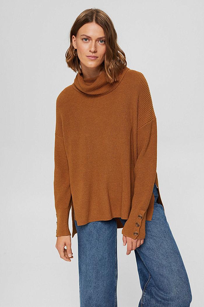 Organic Cotton/Kaschmir: Rollkragen-Pullover