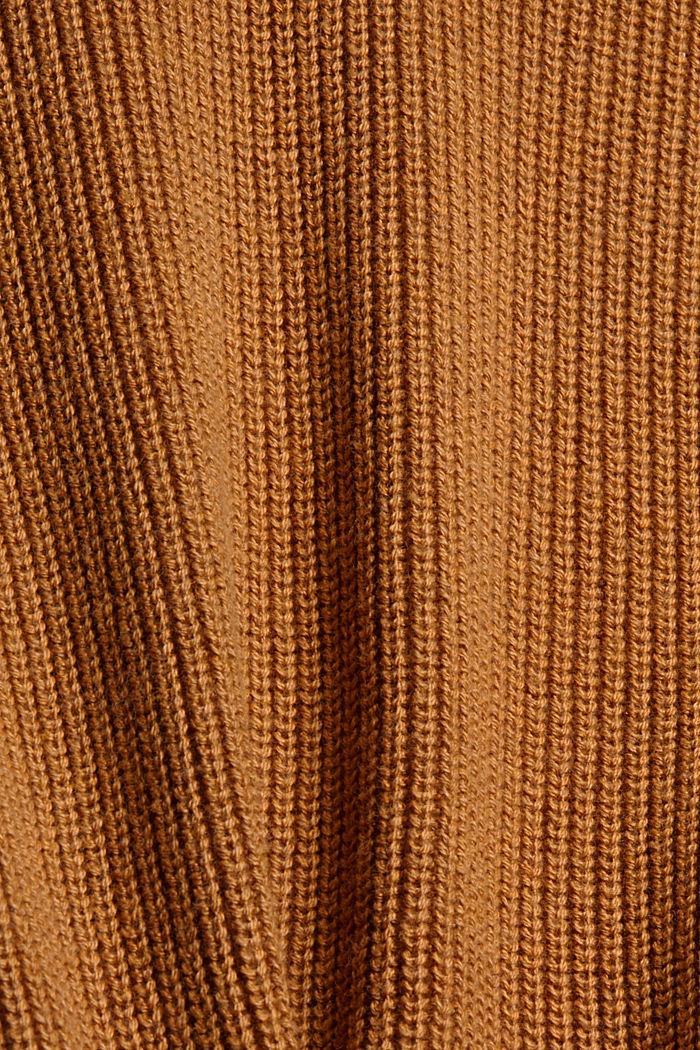 Organic Cotton/Kaschmir: Rollkragen-Pullover, CAMEL, detail image number 4
