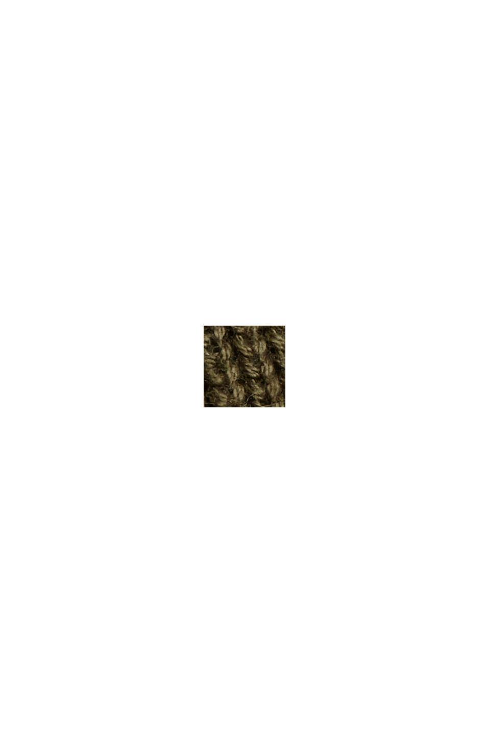 Organic Cotton/Kaschmir: Rollkragen-Pullover, DARK KHAKI, swatch