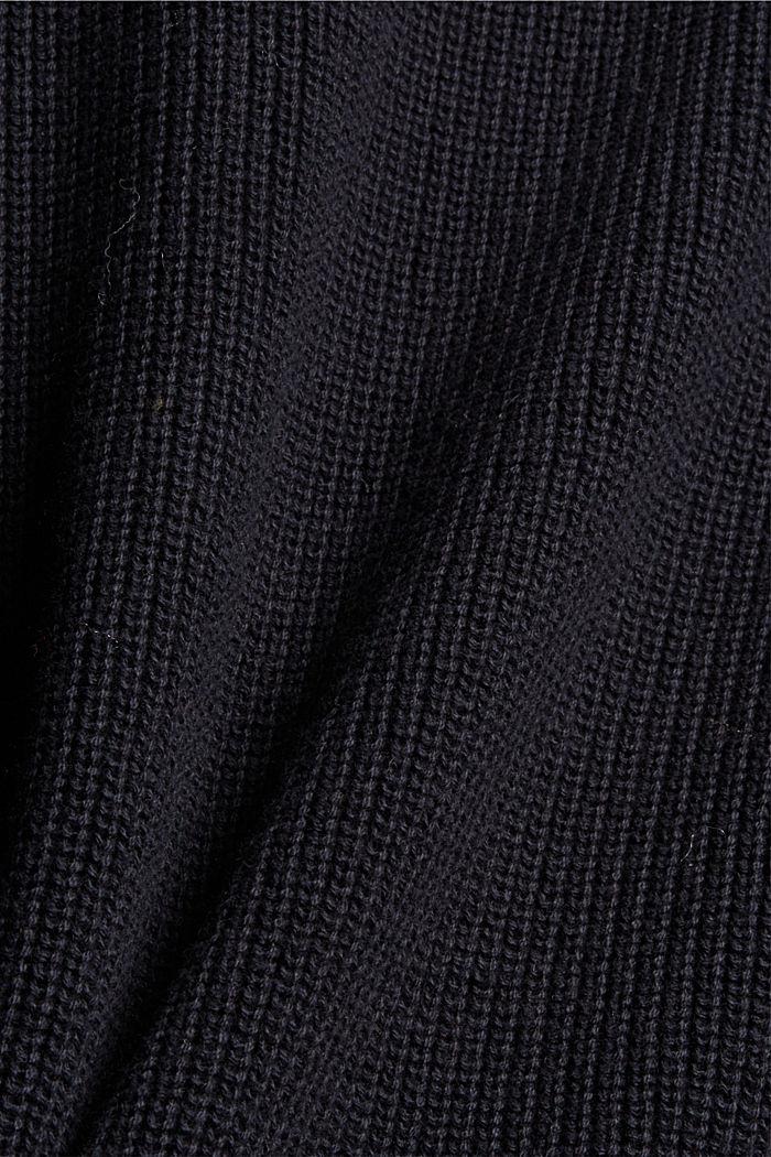 Mit Kaschmir: Rippstrick-Pullunder, BLACK, detail image number 4